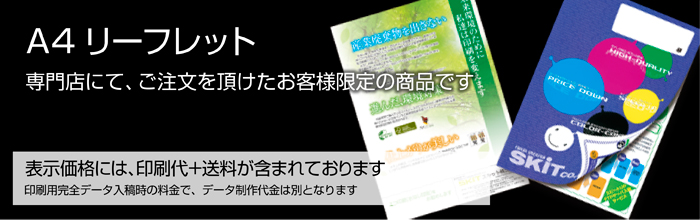 A4リーフレット(三折)